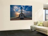 Guided-Missile Destroyer Uss Higgins Print by  Stocktrek Images