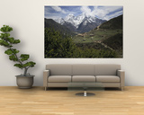 View of a Small Village with Mount Everest in the Background Plakater af Tim Laman