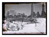 New York City In Winter V Photographic Print by  British Pathe