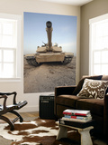 An M-1A1 Main Battle Tank Casts a Daunting Image in the Desert Near Dra Digla, Iraq Posters