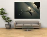 FA-18 Navy Jets in Flight over the Chesapeake Bay - Reprodüksiyon