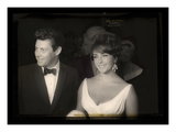 Elizabeth Taylor with Eddie Fisher Photographic Print by  British Pathe