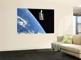 The Hubble Space Telescope with a Blue Earth in the Background Poster