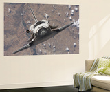 The Space Shuttle Discovery Approaches the International Space Station for Docking Posters