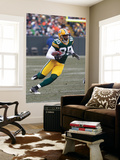 Seahawks Packers Football: Green Bay, WI - Greg Jennings Prints by Morry Gash