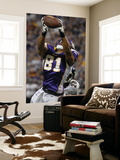 Ravens Vikings Football: Minneapolis, MN - Visanthe Shiancoe Print by Tom Olmscheid