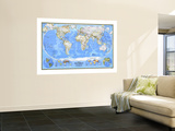 1988 World Map Plakater af National Geographic Maps