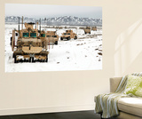 A Convoy of Vehicles During a Route Clearing Procedure in Afghanistan Posters by  Stocktrek Images