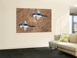 Two T-38A Mission Support Aircraft Fly in Tight Formation Posters by  Stocktrek Images