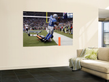 Bears Lions Football: Detroit, MI - Calvin Johnson Poster by Paul Sancya