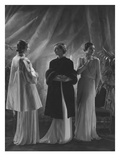 Vogue - April 1933 - Three Women in Augustabernard Gowns Premium Photographic Print by George Hoyningen-Huené