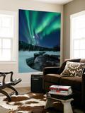 Aurora Borealis over Blafjellelva River in Troms County, Norway Art by  Stocktrek Images