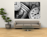 Clocks and Dollar Bills Posters