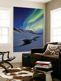 Aurora over Skittendalstinden in Troms County, Norway Posters by  Stocktrek Images