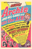 Archie Comics Retro: Archie and His Gang are on the Air! Radio Broadcast Advertisement (Aged) Prints