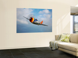 A Republic P-47D Thunderbolt in Flight Print by  Stocktrek Images
