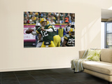 Lions Packers Football: Green Bay, WI - Aaron Rodgers Posters by Mike Roemer