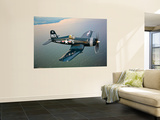 A Vought F4U-5 Corsair in Flight Print by  Stocktrek Images