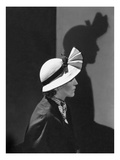 Vogue - December 1934 - Model in a Hat by J. Suzanne Talbot Premium Photographic Print by George Hoyningen-Huené