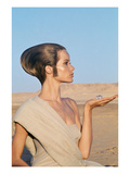 Vogue - April 1967 - Veruschka in an Egyptian Desert Regular Photographic Print by Franco Rubartelli