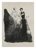 Vogue - April 1936 - Black and White Dresses by Vionnet Regular Giclee Print by René Bouét-Willaumez