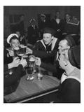 Vogue - June 1945 - Sailors Toast VE Day Regular Photographic Print by  Lofman