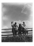 Vogue - August 1935 - Women on Horse Ranch Photographic Print by Lusha Nelson