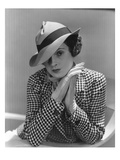 Vogue - March 1935 - Woman in Houndstooth Jacket Regular Photographic Print by Lusha Nelson