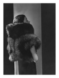 Vogue - October 1933 - Toto Koopman in Fur Premium Photographic Print by George Hoyningen-Huené