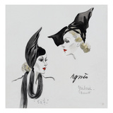 Vogue - November 1936 - Dramatic Black Hat by Agnes Regular Giclee Print by  David