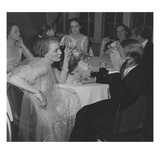 Vogue - February 1936 - Couples Dining at The St. Regis Regular Photographic Print by Remie Lohse