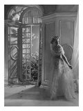 Vogue - June 1935 - Woman by Open French Doors Regular Photographic Print by Horst P. Horst