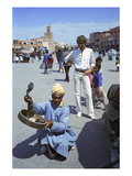 W - April 1972 - Yves Saint Laurent in Marrakech Regular Photographic Print by Reginald Gray