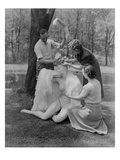 Vogue - June 1941 - Assembling a Mannequin in the Woods Regular Photographic Print by André Durst