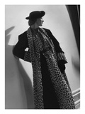 Vogue - October 1935 - Leopard Skin Coat by Vionnet Photographic Print by Horst P. Horst