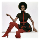 Vogue - November 1969 - Bill Blass Turtleneck Dress Regular Photographic Print by Gianni Penati