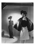 Vogue - October 1944 - Fashions from Bergdorf Goodman Regular Photographic Print by Cecil Beaton