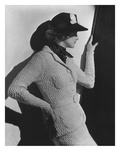 Vogue - April 1936 - Profile of Woman in a Black Hat Regular Photographic Print by Lusha Nelson