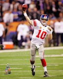 Eli Manning Super Bowl XLVI Action Photo