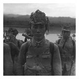 Vogue - July 1945 - Chinese Soldier in Camouflage Photographic Print by Cecil Beaton
