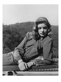 Vogue - March 1945 - Lauren Bacall Regular Photographic Print by Crane Ralph