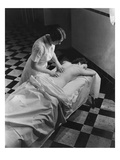 Vogue - February 1936 - Massage at The Saratoga Spa Regular Photographic Print by Lusha Nelson