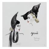 Vogue - November 1936 - Dramatic Black Hat by Agnes Regular Giclee Print by  David