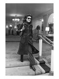 WWD - March 1971 - Jackie Onassis in Suede Photographic Print by Sal Traina