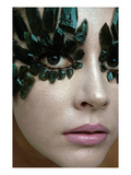 Vogue - January 1968 - Emerald-Encrusted Eyes Regular Photographic Print by Gianni Penati