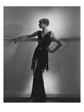Vogue - August 1934 - Schiaparelli Black Paillette Gown Photographic Print by Horst P. Horst