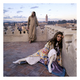 Vogue - January 1970 - Talitha and Paul Getty, Jr. in Morocco Photographic Print by Lichfield Patrick