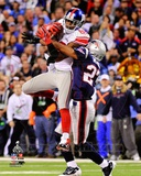 Hakeem Nicks Super Bowl XLVI Action Photo