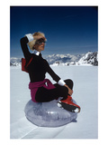Vogue - November 1968 - Marisa Berenson Atop a Glacier Photographic Print by Arnaud de Rosnay
