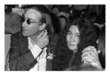 WWD - April 1975 - John Lennon and Yoko Ono Regular Photographic Print by Pierre Schermann